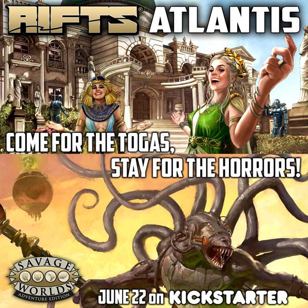 Savage Worlds Rifts Atlantis Kickstarter coming June 22