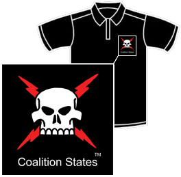 Coalition States Embroidered Polo Shirt