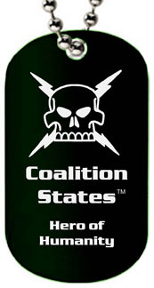 Coalition Heroes of Humanity Dog Tag