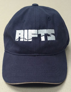 Rifts Embroidered White Logo Baseball Cap