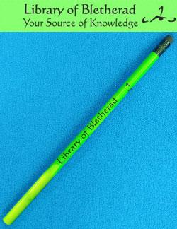 Palladium Fantasy Library of Bletherad Pencil