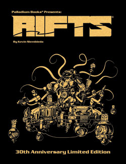 Rifts RPG 30th Anniversary Gold Hardcover