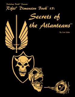 Rifts Secrets of the Atlanteans Gold Hardcover