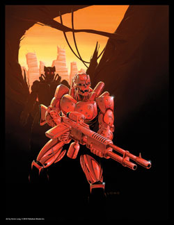 Rifts Red Borg Print