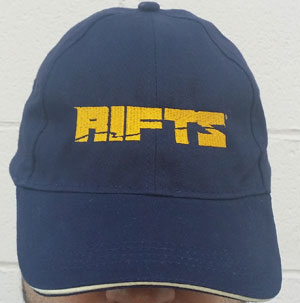 Rifts Embroidered Cap Gold Rifts Logo