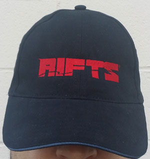 Rifts Embroidered Cap Red Rifts Logo